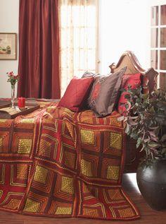 Waverly for Bernat - Cross Blocks Pillow & Afghan