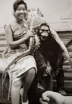 Kong and the giant octopus relax backstage