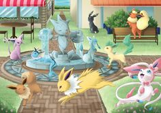 Eevee and Friends: Pokemon X and Y by halfdemon912 on deviantART