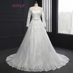 Cheap Vestido De Noiva 2018 Muslim Wedding Dresses A-line Long Sleeves Appliques Lace Vintage Boho Wedding Gown Bridal Dresses
