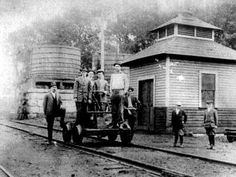"""Old railroad depot at Rossville, #Tennessee 1920's  From """"Old Collierville"""" on FB"""