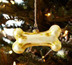 Bone Glass Ornament #potterybarn