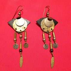 Cute Jodie Coyote Earrings Cute geometric shapes in mixed metals. Jodie Coyote Jewelry Earrings