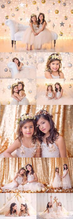 Golden girls P and A in our sparkly holiday sets!
