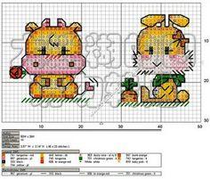 ♥Meus Gráficos De Ponto Cruz♥: Mini Bichinhos Completo