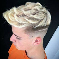 48 Awesome Hair Color Ideas for Men in 2018 - Men's Hairstyles Cool Short Hairstyles, Short Hair Styles, Men's Hairstyles, Dyed Hair Men, Gorgeous Blonde, Grunge Hair, Cool Hair Color, Haircuts For Men, Bearded Men