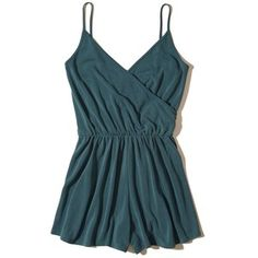 Hollister Wrap Front Sueded Knit Romper
