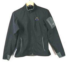 Arc'teryx Womens Size M Epsilon Jacket Black Water Resistant Full Zip Softshell Black Water, Green Wool, Softshell, Green Shorts, Outdoor Gear, Adidas Jacket, Outdoors, Zip, Casual