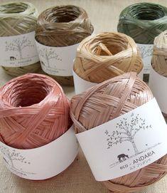 Eco Andaria Yarn Earth Colors Japanese Hamanaka by pikobeagle on Etsy Barn Wood Crafts, Rope Crafts, Bead Crafts, Crochet Rug Patterns, Macrame Patterns, Crochet Motif, Crochet Summer Hats, Love Crochet, Crochet Hook Sizes