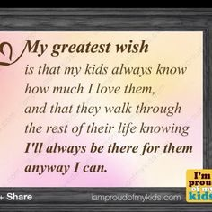 My wish, my kids <3