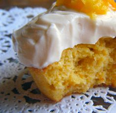 Low Carb- The taste of summer– Creamsicle Cupcakes « Healthy Indulgences- These don't taste low-carb. They are moist and sweet, and especially delicious out of the fridge. I can't keep my hands off of them. My favorite low-carb dessert thus far.