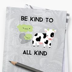 'Be Kind To All Kind' Sticker by Unbeatable Apparel Transparent Stickers, It Works, Reusable Tote Bags, Art Prints, Printed, Awesome, Artist, People, Products