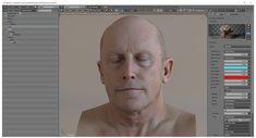 Blender skin shader by Andrei Cristea (free download), James Busby on ArtStation at https://www.artstation.com/artwork/oJV04