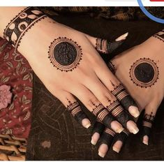 Best 11 Mehndi henna designs are always searchable by Pakistani women and girls. Women, girls and also kids apply henna on their hands, feet and also on neck to look more gorgeous and traditional. Henna Hand Designs, Dulhan Mehndi Designs, Circle Mehndi Designs, Round Mehndi Design, Mehndi Designs Book, Mehndi Designs For Beginners, Mehndi Designs For Girls, Mehndi Design Photos, Wedding Mehndi Designs