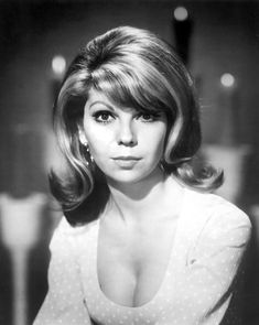 Nancy Sinatra - Love this hairstyle ! Angela Jones, Carolyn Jones, Nancy Sinatra, Colleen Camp, Cheryl Hines, Cindy Wilson, Catherine Bach, Barbara Windsor, Caroline Munro