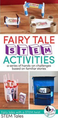 Homeschooling mom and engineer with a passion for STEM education. Fairy Tale Activities, Steam Activities, Preschool Activities, Stem Preschool, Teach Preschool, Fairy Tale Crafts, Fairy Tale Theme, Défis Stem, Fairy Tales Unit