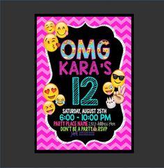 Cumpleaños de Emoji Emoji invitación por invitationsbyKATRINA