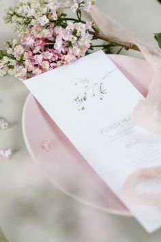 Botanical Wedding Menu by Love Prints