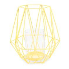 Lanterne en métal jaune H 27 cm SANTIAGO