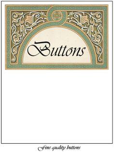 Free Printable Button Cards | Printable Button Card