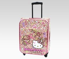 721668350c Hello Kitty Rolling Luggage  Leopard Hearts Item  24479  250.00 Cat Party