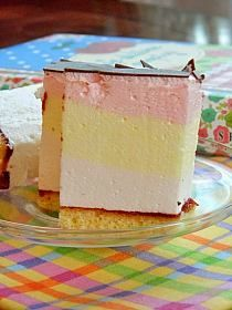 Polish Desserts, Cold Desserts, Polish Recipes, Polish Food, Custard Slice, Cake Recipes, Dessert Recipes, Sandwich Cake, Meringue Pavlova