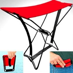 Meanhoo Folding camping & outdoor pocket beach chair fishing stool portable folding seat