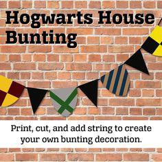 Printable Hogwarts Bunting Decoration