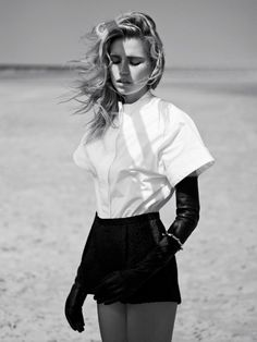Cato Van Ee Dons Black Looks for Philip Riches' Marie Claire Netherlands Shoot