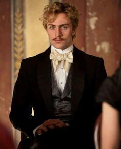 Aaron Taylor Johnson as Vronsky in Anna Karenina