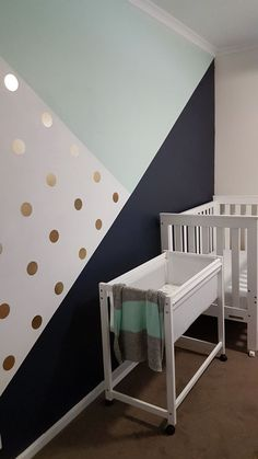 in expensive Posh touch baby room idea! Baby Bedroom, Baby Room Decor, Nursery Room, Girls Bedroom, Bedroom Decor, Bedroom Wall, Bedrooms, Big Girl Rooms, Baby Boy Rooms
