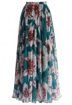 Marvel at the bold floral print of this gossamer maxi frock, you adore your reflection in this skirt as much as you love summer time! Swirl in it with a trendy off-shoulder top or cami, your summer vacation is in countdown! - Elastic waist - Lined - 100% Polyester - Machine wash gently / Hand wash Size(cm) Length Waist XS 110 58-64 S 110 64-70 M 110 70-76 L 110 76-82 XL 110 82-88 XXL ...