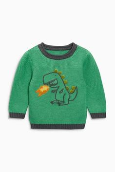 Buy Green Dino Crew Neck Jumper (3mths-6yrs) online today at Next: Israel