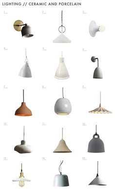 Ceramic lighting looks special and adds character to any space