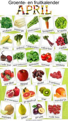 Natuurlijk Gezond en Mooi: Groente- en fruitkalender april