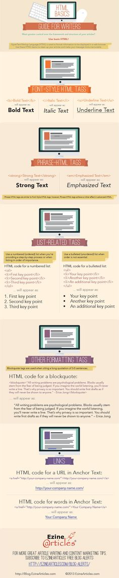Simple Code Basics [Infographic] http://michelleshaeffer.com/make-your-life-easier-learn-these-code-basics-infographic/2013/08/26/