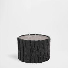 Lumânare în Formă de Trunchi Neagră