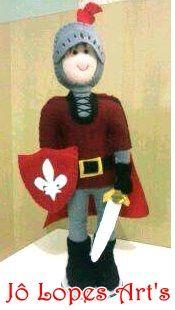 Cavaleiro em feltro rei Arthur