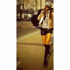 Cool Girl, Skater Skirt, Kpop, Models, Celebrities, Clothes, Fashion, Templates, Outfits