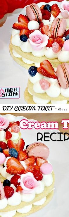 DIY CREAM TART - alphabet cake - EASY RECIPE!... Tags: How to make a letter shaped cream tart, how to make a number shaped cream tart, letter cream tart, number cream tart, alphabet cake, number cake, artisan cake company, sugar geek show, adilicious, 2018 cake trend, 2018 baking trend, Cream Tart Recipe, Mascarpone, Sugar High Score, Nerdy baking, Fruit topped cream tart, trendy cream tart, cake videos, baking videos, cake decorating, baking, learn how to bake, letter cookie, number cookie…