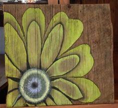 Fleur sur bois par BoisGrange sur Etsy