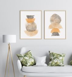 Gold Wall Decor, Neutral Walls, Mid Century Art, Wall Art Sets, Modern Prints, Abstract Wall Art, Artwork Prints, Printable Wall Art, Watercolor Art