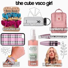 how to be a vsco girl checklist ; how to be a vsco girl list ; how to become a vsco girl list ; Basic White Girl, White Girls, Just Girl Things, Things To Buy, Retro Band, Teenage Girl Gifts, Teen Gifts, Accesorios Casual, Vsco Pictures