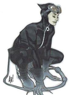 Catwoman by Adam Hughes Comic Art Catwoman Comic, Catwoman Cosplay, Batman And Catwoman, Batman Art, Adam Hughes, Comic Book Artists, Comic Artist, Comic Books Art, Bob Kane