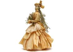 """Corn Husk Dolls """"The Bride"""" by Vermont Dolls available on Etsy"""
