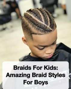 Braids For Kids: 15 Amazing Braid Styles For Boys - Men's Hairstyles Mixed Boys Haircuts, Boys Haircuts Curly Hair, Boys Fade Haircut, Mixed Kids Hairstyles, Boy Braids Hairstyles, Little Boy Hairstyles, Curly Hair Braids, Boys With Curly Hair, Boys Long Hairstyles
