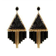 nOir Jewelry: Triangle Dangles Earrings