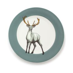Jersey Pottery - Faunus Plate - Stag