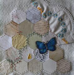 Hexies with embroidery