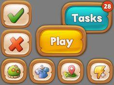 An example of the interface for the game in development.  Пример интерфейса для игры, находящейся в разработке.